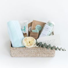 "Marigold & Grey's signature ""Spa Day"" design will give the average day at the spa a run for its money! Makes a fabulous thank you gift, hostess gift, bridal shower gift, bridesmaid gift, engagement gift, bride to be gift, client gift, wedding welcome gift, or even a gift for no reason at all. Source: https://www.marigoldgrey.com/shop/pre-designed-gifts.html"