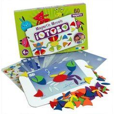 Iotobo Magnetische-Mozaïek basis 4 jaar – 60 delen IOTOBO : Magnetische spelletjes voor kinderen van 3 tot 6 jaar.Met magnetische vormen maak je prachtige mozaïeken IOTOBO stimuleren de verbeelding, de concentratie en de nauwkeurigheid
