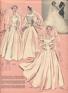 Свадебная мода от Burda 50-e.