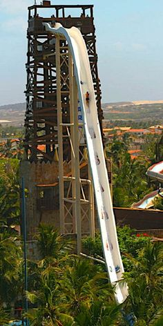 Insano water slide in Brazil - tallest water slide. Yikes!!