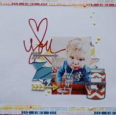 "Yard Heart & Love ~ ""Love You"" Arrow ~ Scrapbook, Journal, Card, Tag, Project Life, SMASHbook"