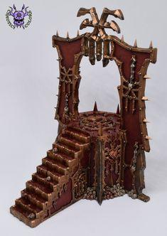 Skull Altar (Blades of Khorne) #ChaoticColors #commissionpainting #paintingcommission #painting #miniatures #paintingminiatures #wargaming #Miniaturepainting #Tabletopgames #Wargaming #Scalemodel #Miniatures #art #creative #hobby #dungeonsanddragons #dnd #frostgrave #rpg #roleplay #paintingwarhammer #warhammer #wh #gamesworkshop #gw #ageofsigmar #aos #sigmar #whfb #fantasy #warhammerfantasy #Kingsofwar #kow #kingsofwarvanguard #Chaos #Khorne #Bladesofkhorne #Khornedaemon #BleedingIcon Warhammer Fantasy, Warhammer 40k, Age Of Sigmar, Tabletop Games, Dungeons And Dragons, Blade, Miniatures, Skull, Altars