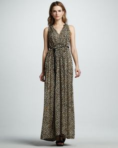 Leopard-Print Gown by Rebecca Taylor at Neiman Marcus.
