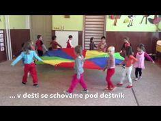 Dešťové kapičky - cvičíme s padákem - YouTube