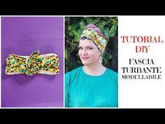 Tutorial: fascia turbante modellabile. Cucito per principianti - YouTube Perm, Costume Patterns, Sewing Patterns, Arts And Crafts, Hair Styles, Blog, Handmade, Tutorials, Bandanas
