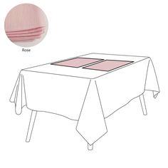 Set de table lin 105 fils/cm² uni Rose 38x52