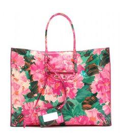 A floral leather Balenciaga tote bag!