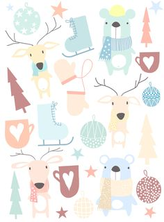 Winter baby textil project on Behance Baby Fabric, Baby Winter, Baby Prints, Textile Design, My Works, Printing On Fabric, Behance, Nursery, Textiles