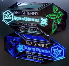 Another great badge Etsy https://www.etsy.com/nl/listing/205209636/refractor-agent-badge-custom-name-group
