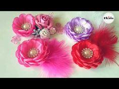 Tutorial Mawar Mangkok Roseburn   How to make DIY lotus headband - YouTube