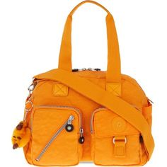 KIPLING Defea tote ($110) ❤ liked on Polyvore featuring bags, handbags, tote bags, sunset yel, pocket tote, orange tote, kipling tote, reversible tote and tote purse