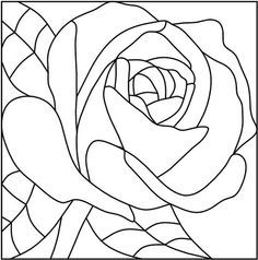 Stained Glass Rose Pattern Stained glass patterns