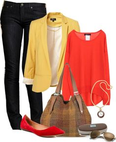 """""""Red and Yellow"""" by amandagrace18 on Polyvore"""