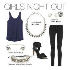 Stella & Dot | Girls Night Out - Lynx Pearl Necklace, Deja Vu Pearl Studs, Pearl Spike Cuff, Chiara Bracelet | Fall Collection 2015 Not your Grandma's pearls! www.stelladot.fr/sites/eveline