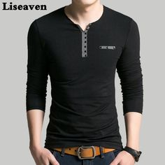 Liseaven Men V Neck Full Sleeve T-Shirt Slim Fit tshirt Brand New Tops & Tees Cotton T Shirts Polo Shirt Outfits, Polo T Shirts, Casual Work Outfits, Great T Shirts, Shirt Price, Men Casual, Menswear, Clothes, Travel Outfits