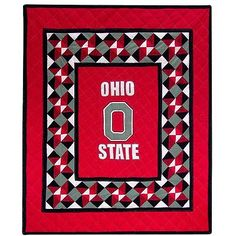osu quilt patterns | Ohio State Buckeyes Patchwork Quilt