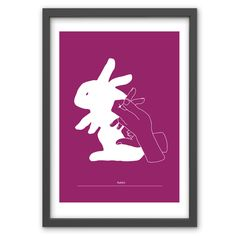 Rabbit Hand Shadow in Plum - Hand pulled screen print. 50cm x 70cm / 19.6 inches x 27.5 inches. 100% recycled archival quality paper. Printed using water based archival quality eco inks. £40 www.toddjarvis.co