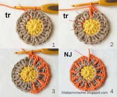 Circles of the sun CAL - Block 1 - Deutsch! Häkeln, stricken und nähen mit Libminna!