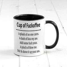 Cup of Fuckoffee... , Funny Coffee Mug, Funny and Rude Gift, Fuckoffee Mug, Office gift, Funny Friend Gift by BeUniqueLtd on Etsy https://www.etsy.com/listing/578249823/cup-of-fuckoffee-funny-coffee-mug-funny