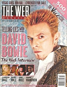 David Bowie on The Web magazine 1990s by Astrolux on Etsy https://www.etsy.com/listing/224197885/david-bowie-on-the-web-magazine-1990s