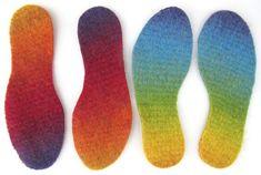 Ravelry: Insoles & other goodies in Tunisian crochet/Krokade sulor & annat smått o gott pattern by Ann Linderhjelm Tunisian Crochet Free, Crochet Sole, Crochet 101, Crochet Bear, All Free Crochet, Crochet Slippers, Crochet Crafts, Easy Crochet, Beginner Crochet Projects