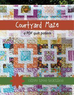 quilt pattern PDF // courtyard maze by olivetreepatterns on Etsy, $8.00