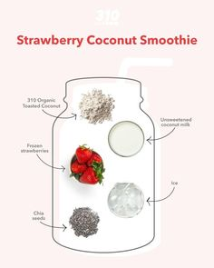 Take your fruity smoothies to the next level with this Strawberry Coconut Smoothie that's made with simple, yet flavorful & nutritious ingredients for a delicious snack, breakfast, or dessert!