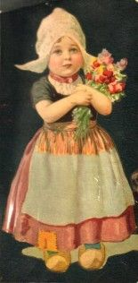 Wee Dutch girl with tulips. Dutch Netherlands, Dutch People, Going Dutch, Wow Art, Vintage Prints, Vintage Posters, Folk Costume, My Heritage, Mode Vintage