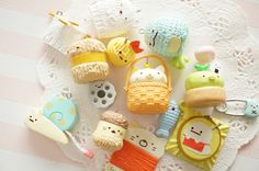 Limited Stock 8pcs  Sumikkogurashi Sewing Club Mascot Charm (((LAST/no restock))) by Candydecoholic on Etsy