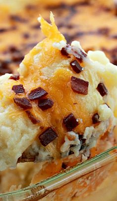 Mashed Potato Casserole Recipe ~ really delicious and a snap to put together