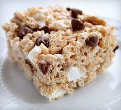 S'mores Rice Krispy Treats Recipe-Real Life Dinner | S'more Rice Krispies |Best Rice Krispy Recipe