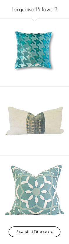 """Turquoise Pillows 3"" by lailoooo ❤ liked on Polyvore featuring home, home decor, throw pillows, aqua, velvet throw pillows, houndstooth throw pillow, velvet accent pillows, aqua throw pillows, aqua blue throw pillows and pillows"