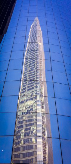 Torre Costanera reflejada en el World Trade Center Santiago Chile, World Trade Center, Skyscraper, Reflection, Multi Story Building, Urban, Photography, Towers, Santiago