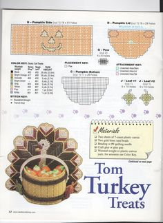 Candy Critters - Page 12 Plastic Canvas Coasters, Plastic Canvas Ornaments, Plastic Canvas Tissue Boxes, Plastic Canvas Christmas, Plastic Canvas Crafts, Plastic Canvas Patterns, Turkey Pattern, Halloween Canvas, Scary Cat