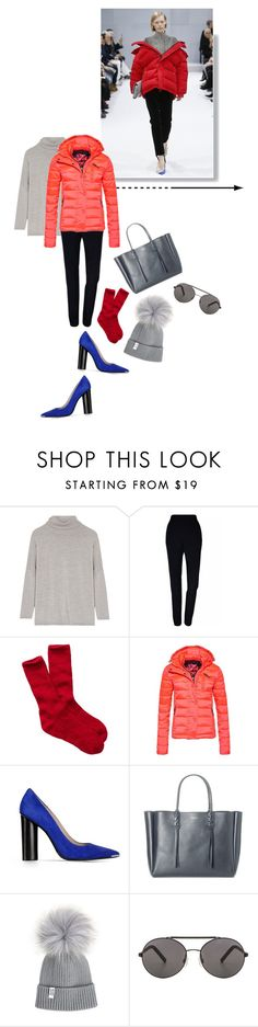 """""""Untitled #781"""" by krahmmm ❤ liked on Polyvore featuring Allude, Plakinger, Smartwool, Superdry, Barbara Bui, Lanvin and Seafolly"""