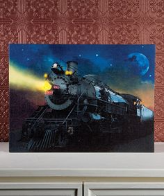 This Train Light-Up Canvas by Ohio Wholesale, Inc. is perfect! Train Bedroom Decor, Light Up Canvas, Projects For Kids, Old World, Artsy Fartsy, Night Light, Wrapped Canvas, Kids Room, Canvas Art