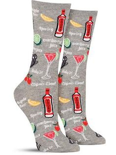Cocktails Socks | Women