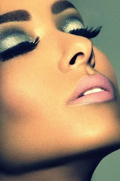 Upgrade a classic smoky eye with glitter.