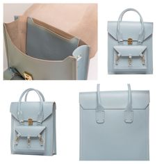 Blue medium size tote bag practical for daily use in side the Pelham bag is spacious with a medium size pocket with the Tomas Brilliance logo embossed at the centre of the pocket  #bag #handbag #tote #blue