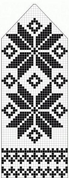 northern star / snowflake motif ~~ knitted mitten pattern ~~ also filet crochet cross stitch Knitting Charts, Knitting Stitches, Knitting Patterns, Crochet Patterns, Loom Knitting, Free Knitting, Knitting Designs, Knitting Projects, Knitting Tutorials