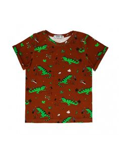 Ignacio the Iguana Brown Short Sleeve Shirt from Raspberry Republic - made in Poland from GOTS certified organic cotton. Available in Canada and the US at Modern Rascals. Trendy Outfits, Kids Outfits, Scandinavian Kids, Brown Shorts, Summer Kids, Cool Patterns, Organic Cotton, Raspberry, Sleeves