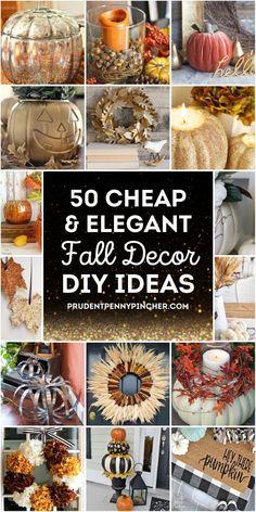 Fall Crafts, Decor Crafts, Decor Diy, Decor Ideas, Diy Decorating, Craft Ideas, Elegant Fall Decor, Diy Halloween Decorations, Fall Decorations