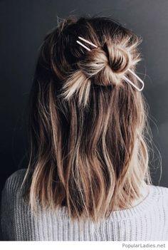 A nice bun with hair accessory