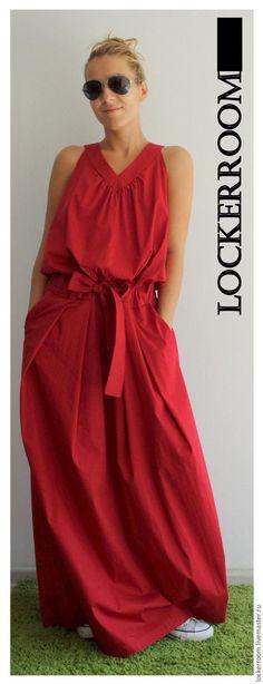 Платья ручной работы. Ярмарка Мастеров - ручная работа. Купить Платье сарафан Women Love (Red). Handmade. Купить