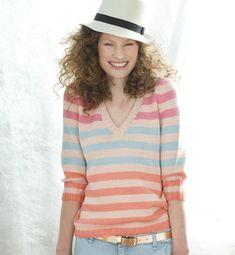 modele tricot pull raye