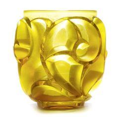 1920's yellow Lalique vase