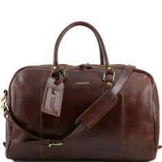 TL Voyager TL141218 Travel leather duffle bag - Borsa da viaggio in pelle - Tuscany Leather