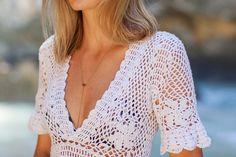 Labyrinth of my hobbies: Пляжное платье крючком.