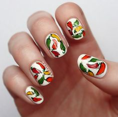 fun chili pepper nails
