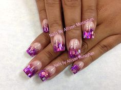 Acrylic Nails...love the purple colors!!!!